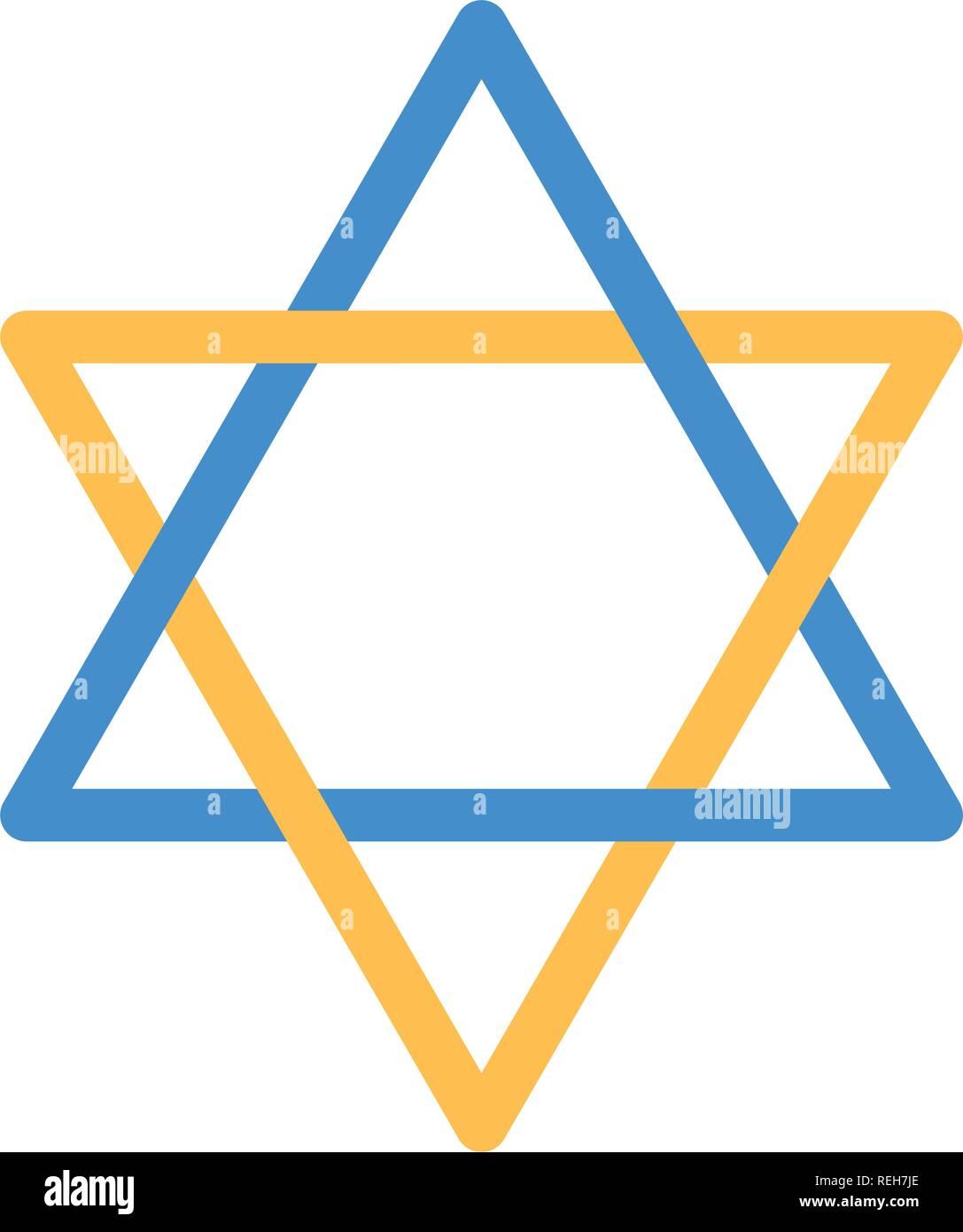 David star emblem - Stock Image