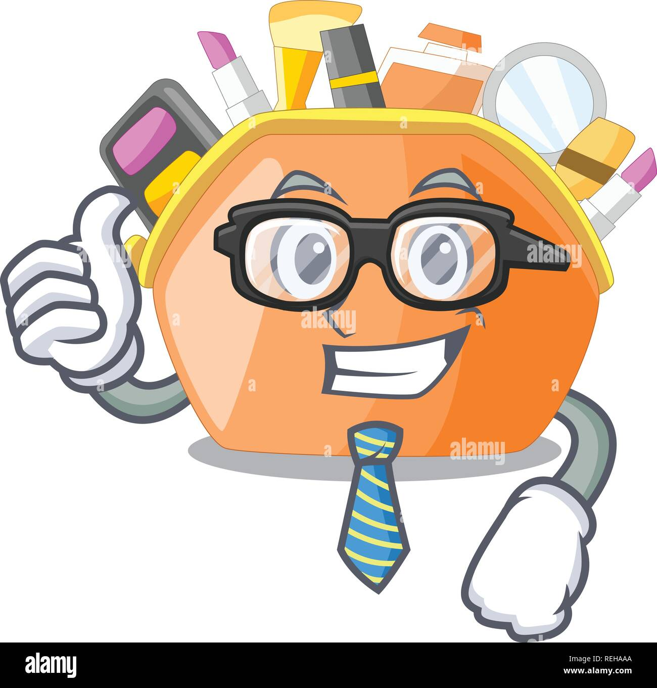 Businessman cosmetic bag isolated in the cartoons - Stock Image