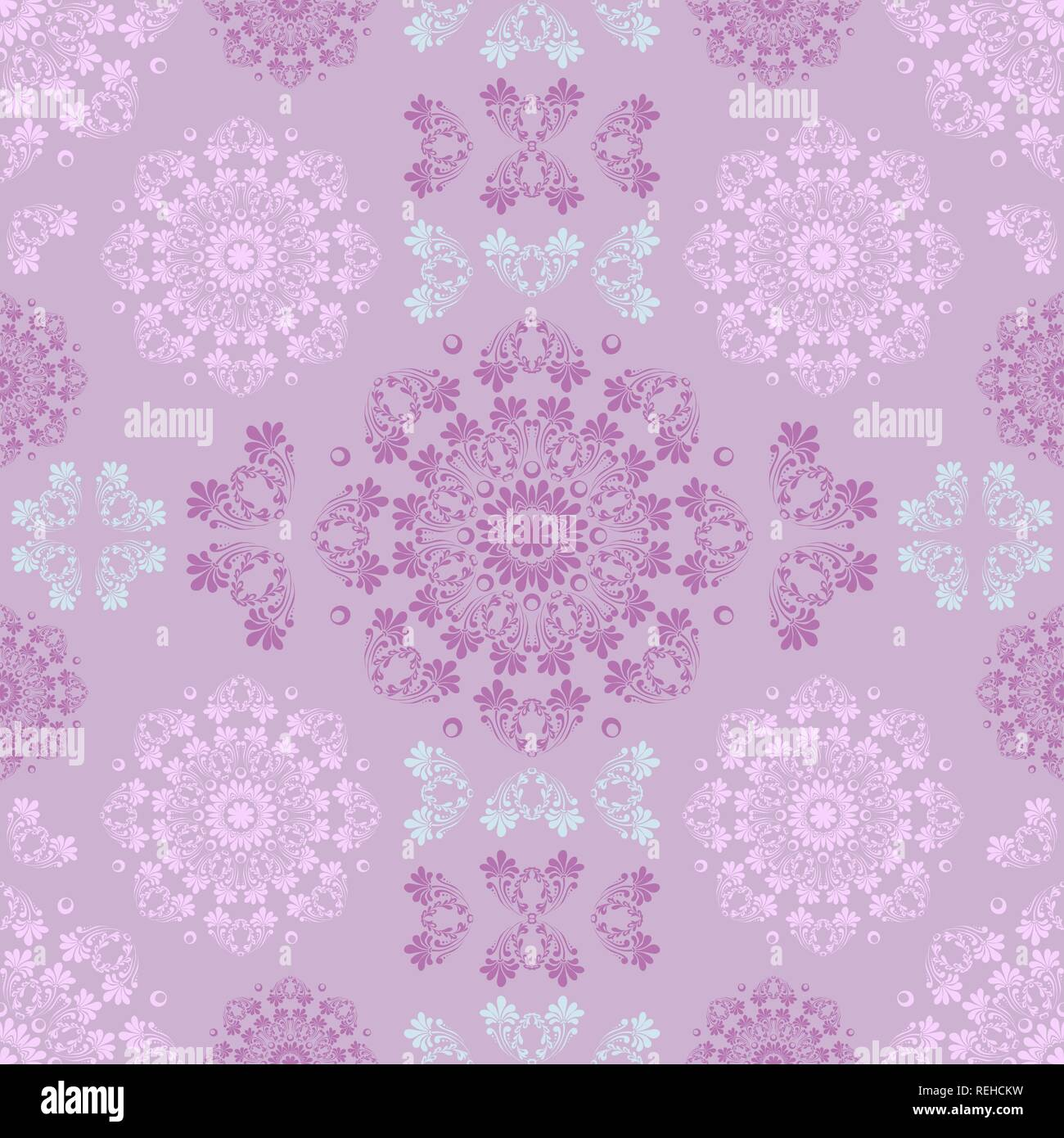 Rose Quartz And Serenity Seamless Pattern For Wall Wallpaper Fabric Textile Design With Mandalas And Decorative Vintage Trendy Color And Vintage Elements Stock Vector Image Art Alamy