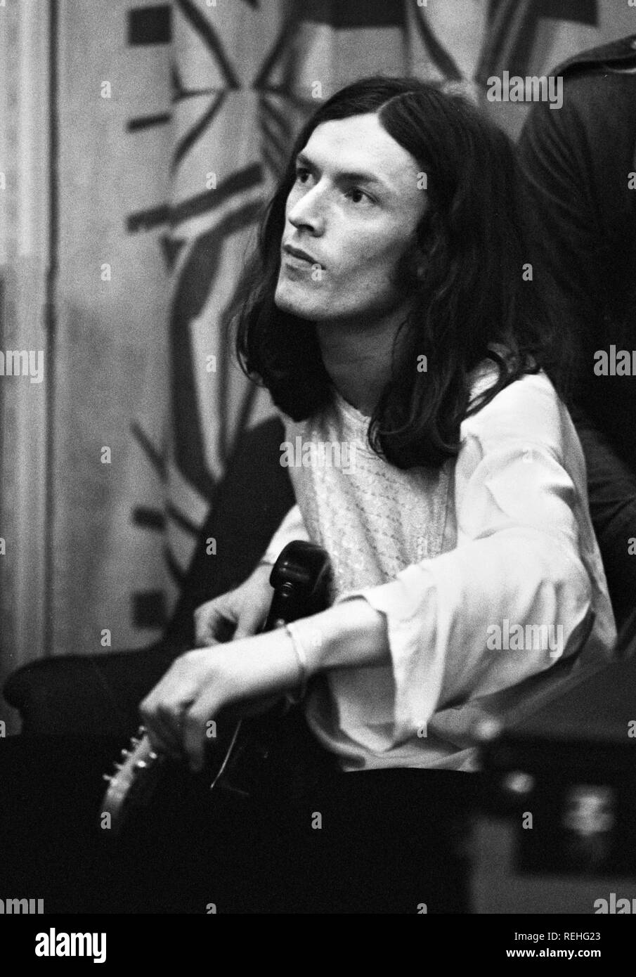 Amsterdam, Netherlands: Steve Winwood from Traffic performs live in Amsterdam, Netherlands in 1972 (Photo by Gijsbert Hanekroot) - Stock Image