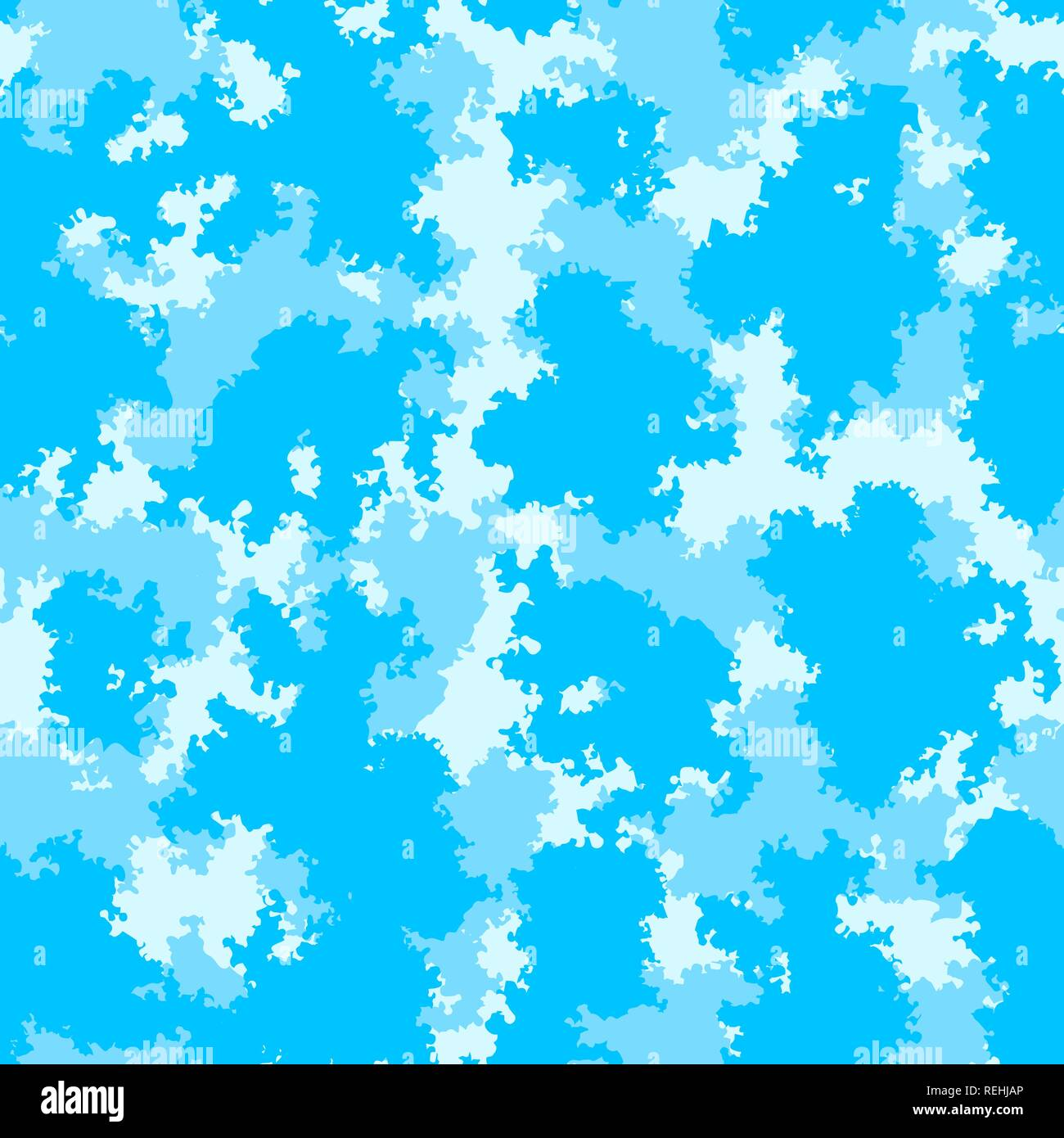 Cute baby room fashion camo colorful clouds nursery seamless wallpaper pattern - Stock Vector