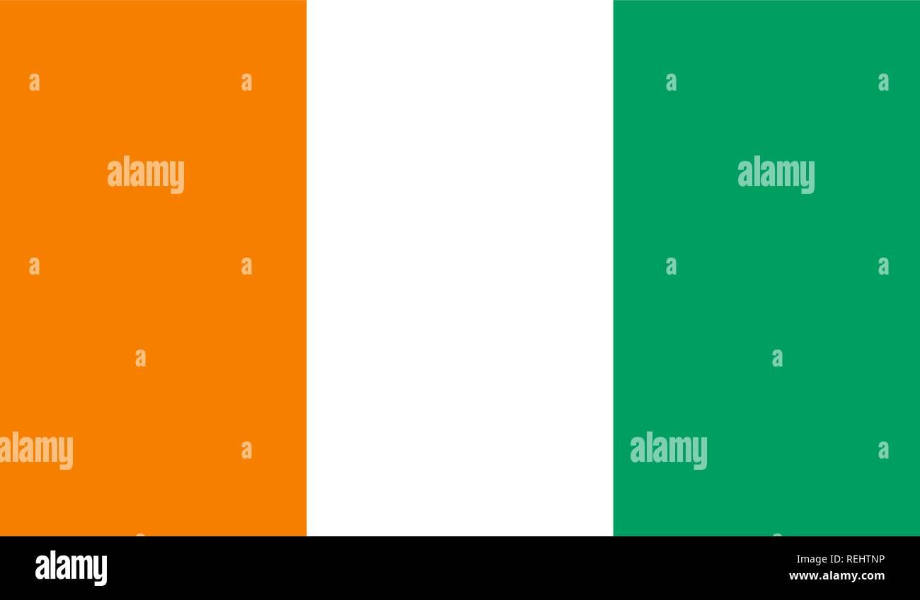 Cote d'Ivoire Flag - Stock Image