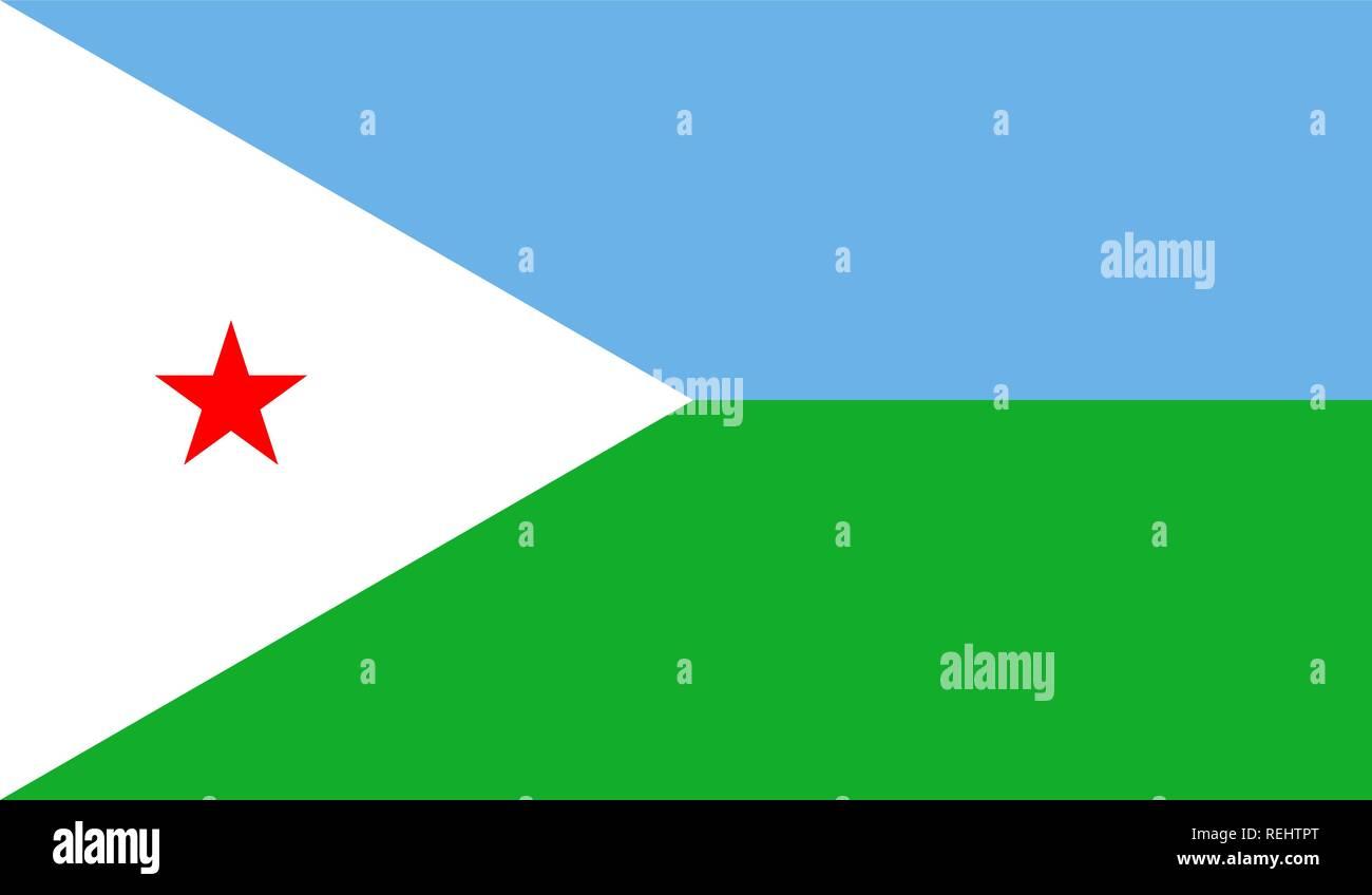 Djibouti Flag Stock Vector