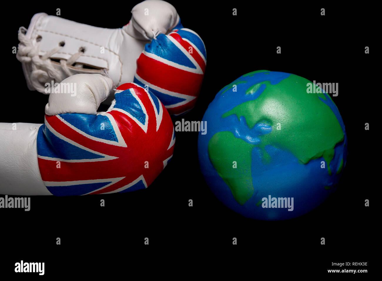 UK vs the world - Stock Image