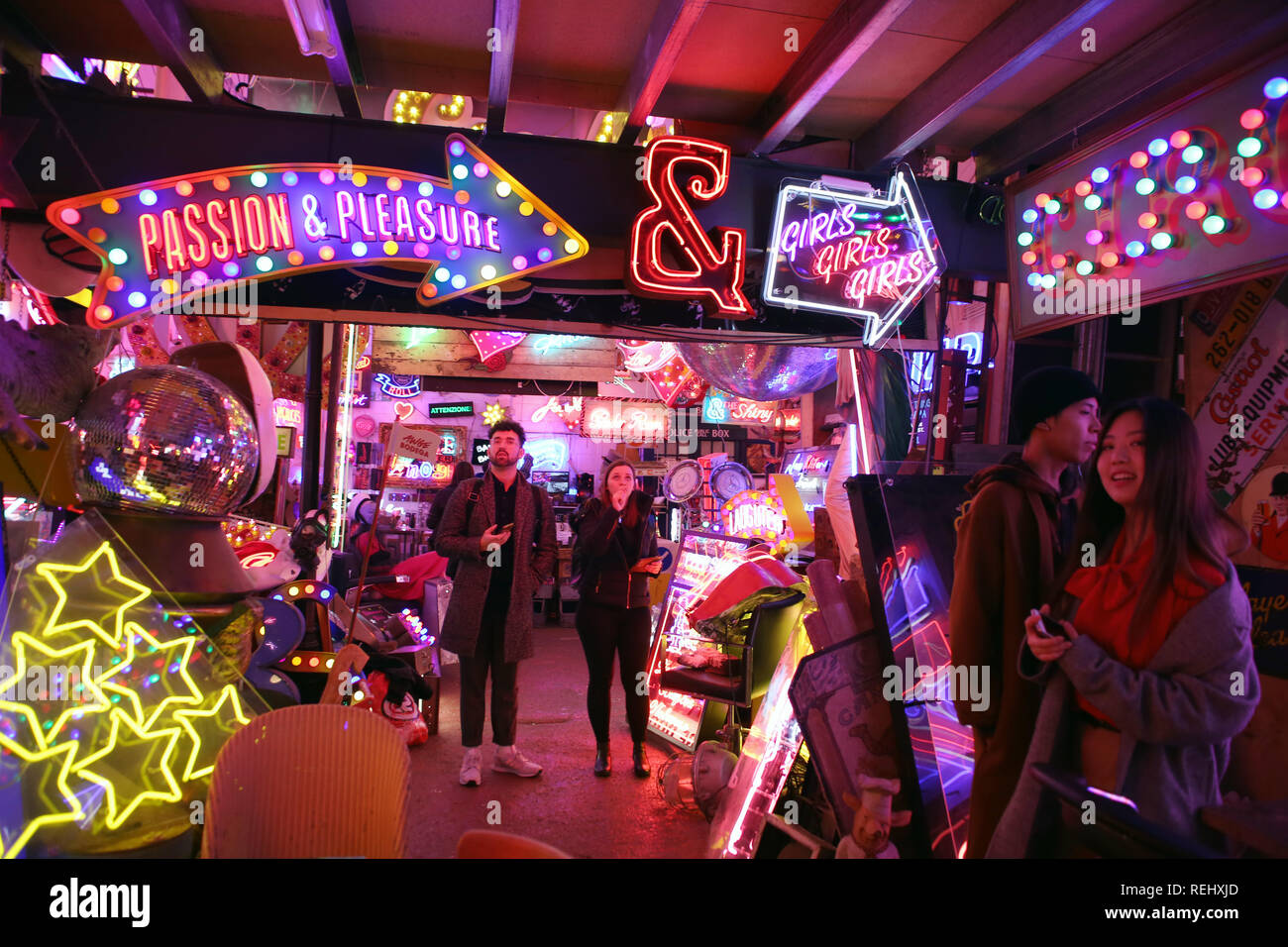 At God's Own Junkyard, Walthamstow, London - Stock Image
