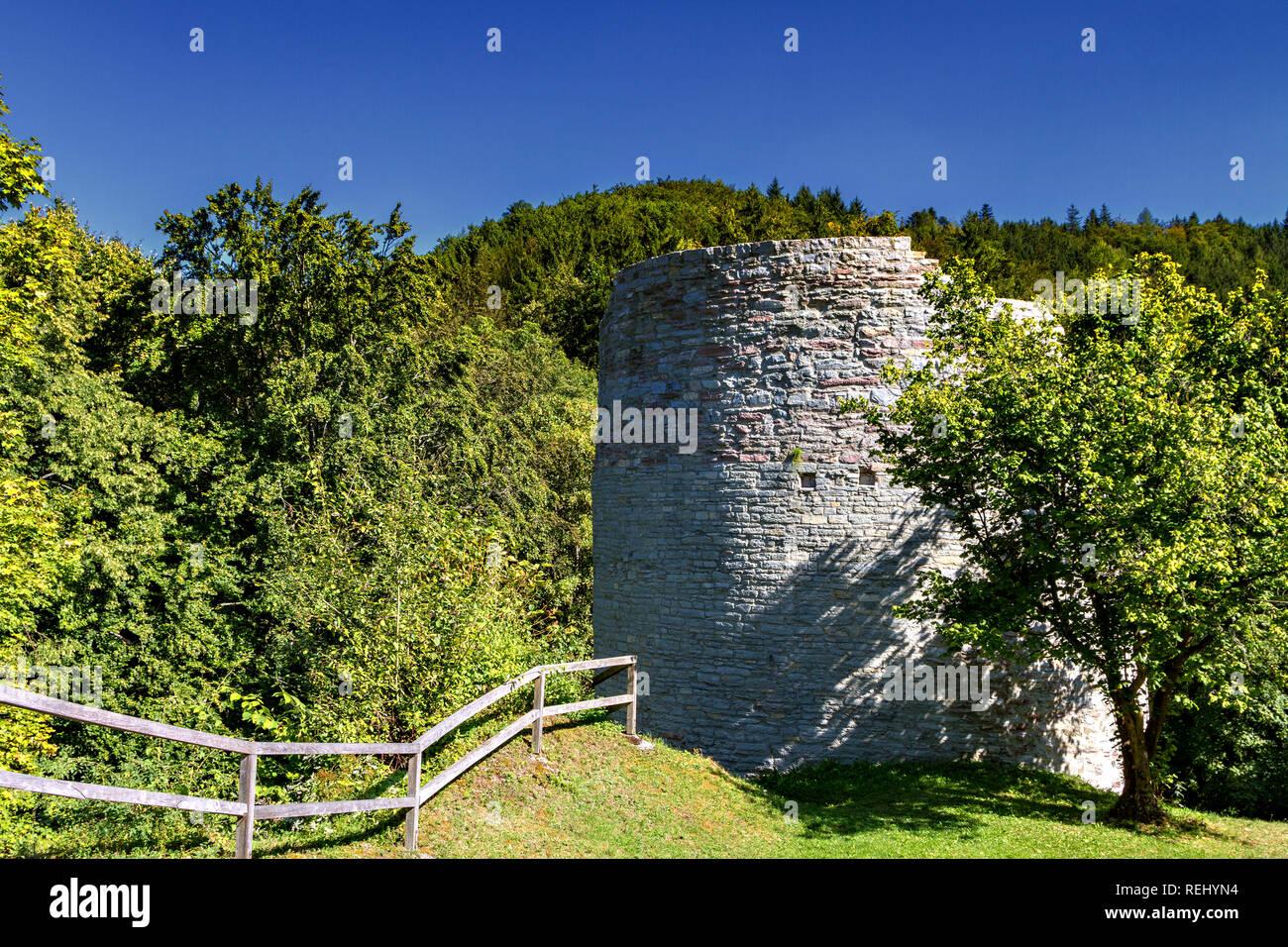 Burgruine Nordeck im Steinachtal - Stock Image