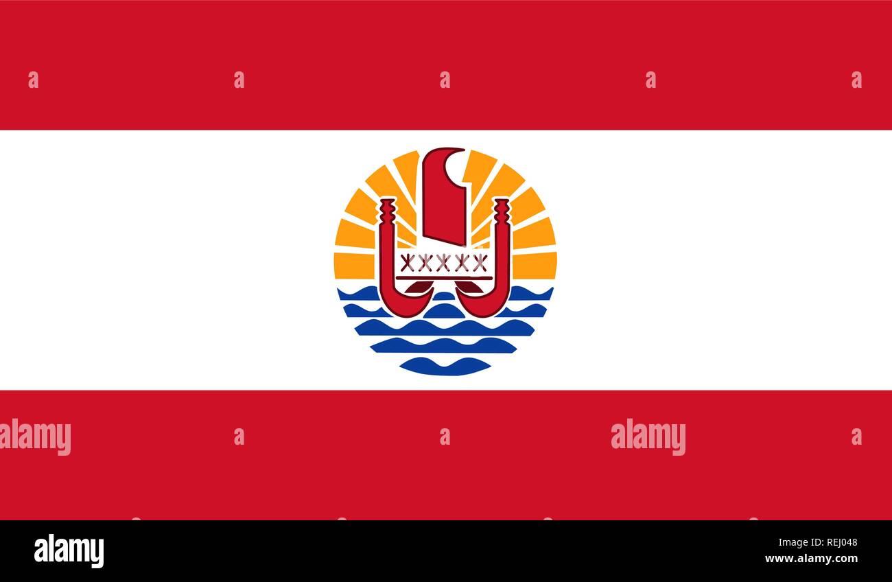 French Polynesia Flag - Stock Image