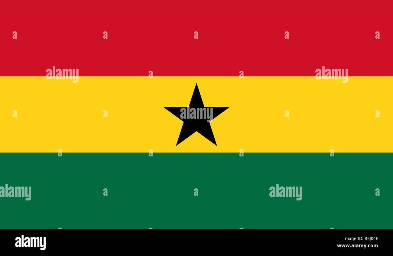 Ghana Flag - Stock Vector