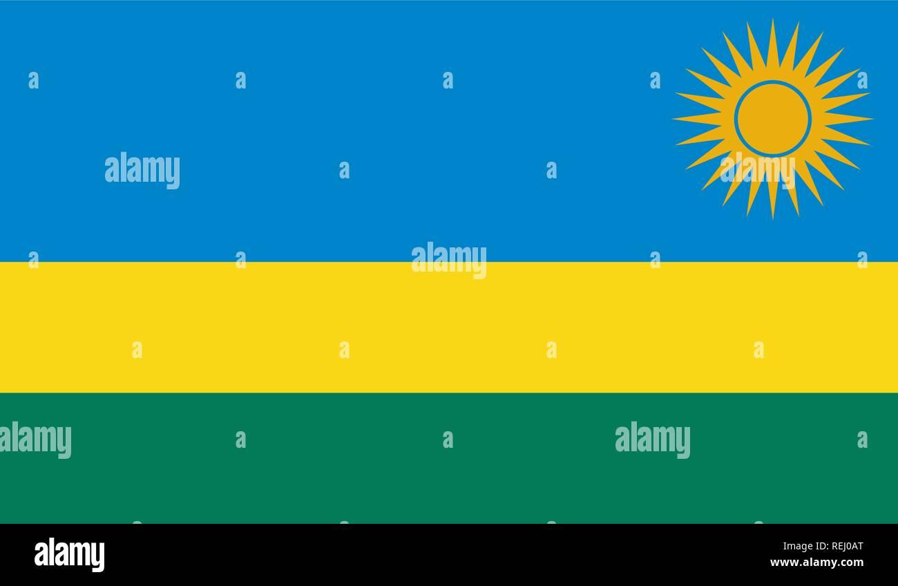 Rwanda Flag - Stock Vector