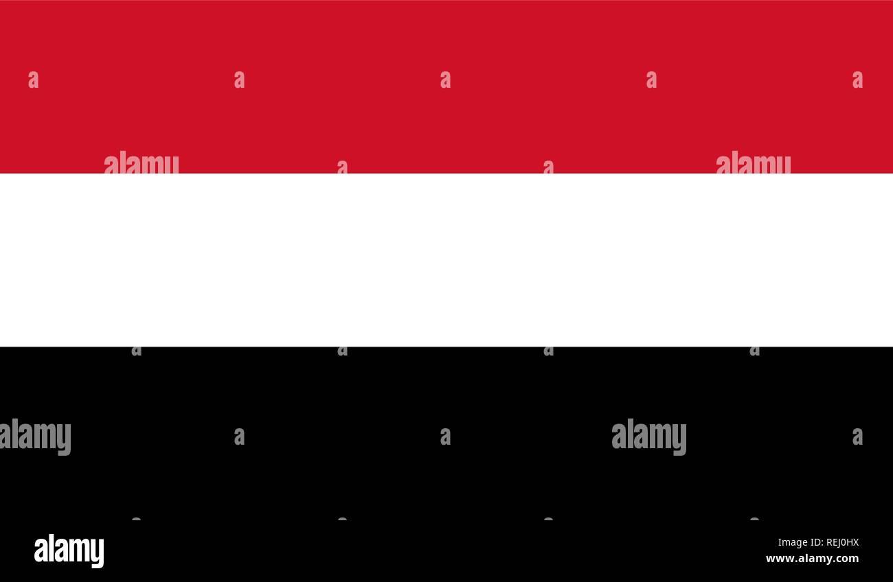 Yemen Flag Stock Vector