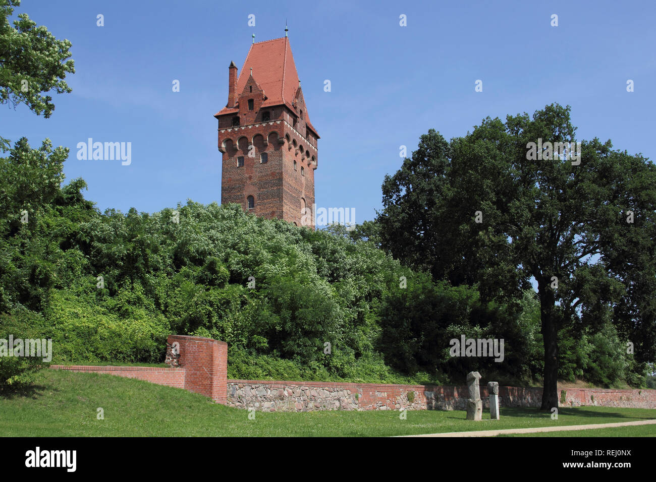 Castle complex and the Lookout tower in Tangermünde, Germany Stock Photo