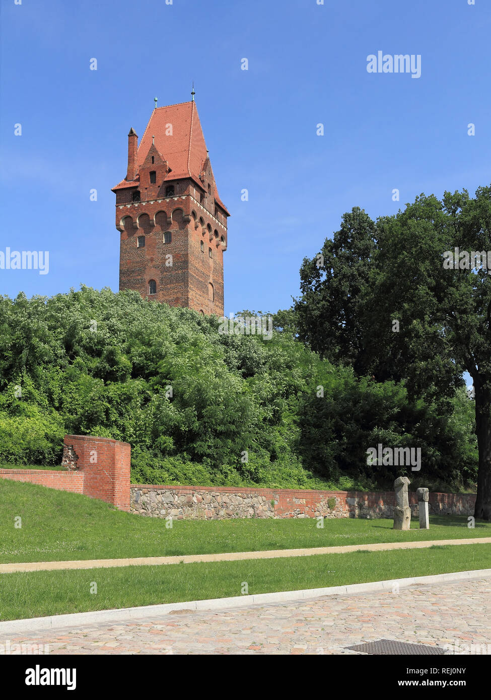 Castle and the Lookout tower in Tangermünde, Germany Stock Photo