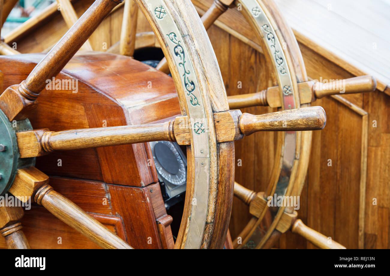 Wooden boat wheel 13