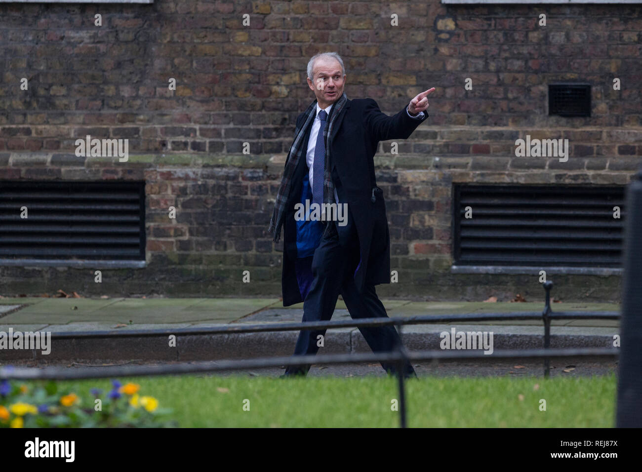 David Lidington, Chancellor of the Duchy of Lancaster, Minister for the Cabinet Office arriving at No.10 Downing Street, Whitehall, London, UK - Stock Image