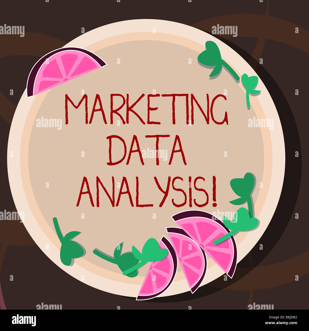 Conceptual hand writing showing Marketing Data Analysis. Business photo showcasing Collecting data, scrutinized and make a conclusion Cutouts of Slice Stock Photo