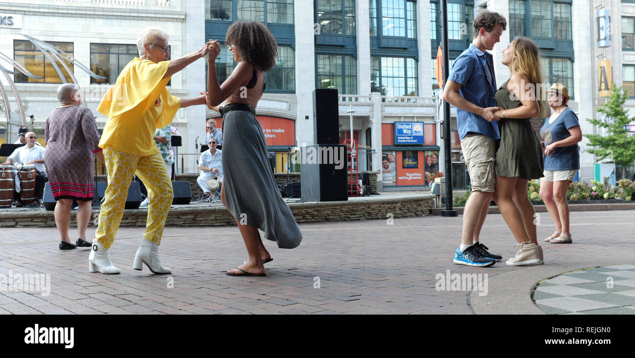 Playhouse Square 'Dancing Under The Stars' weekly outdoor