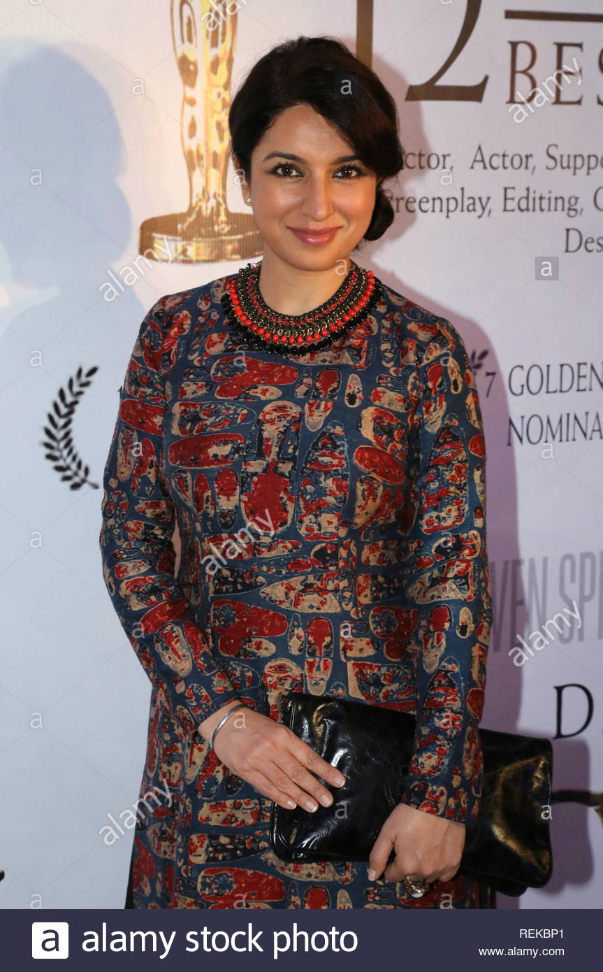 Bollywood actor Tisca Chopra poses during the 12 Academy Award nominations in Mumbai, India on February 07, 2013. (Aakash Berde) - Stock Image
