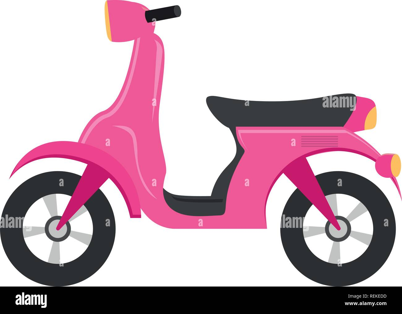 Motorcycle icon over white background, vector illustration - Stock Vector