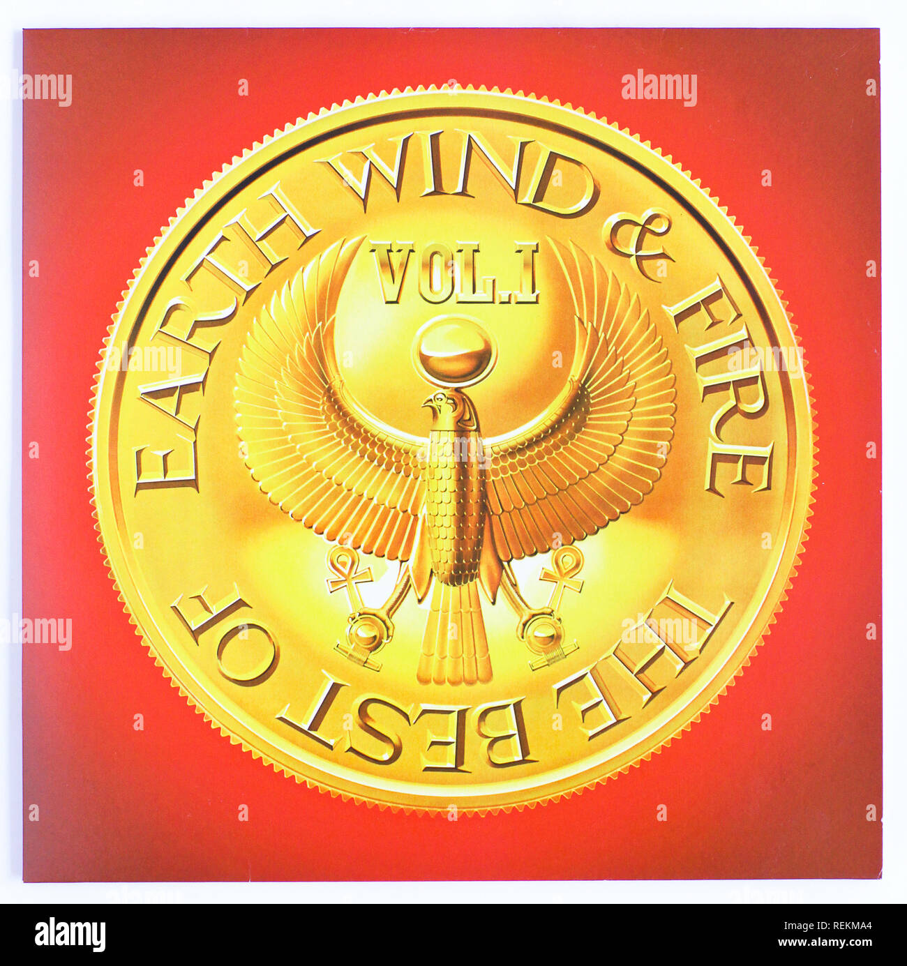 The cover of The Best of Earth, Wind & Fire Vol 1 by Earth, Wind & Fire. 1978 album on Columbia Records - Stock Image