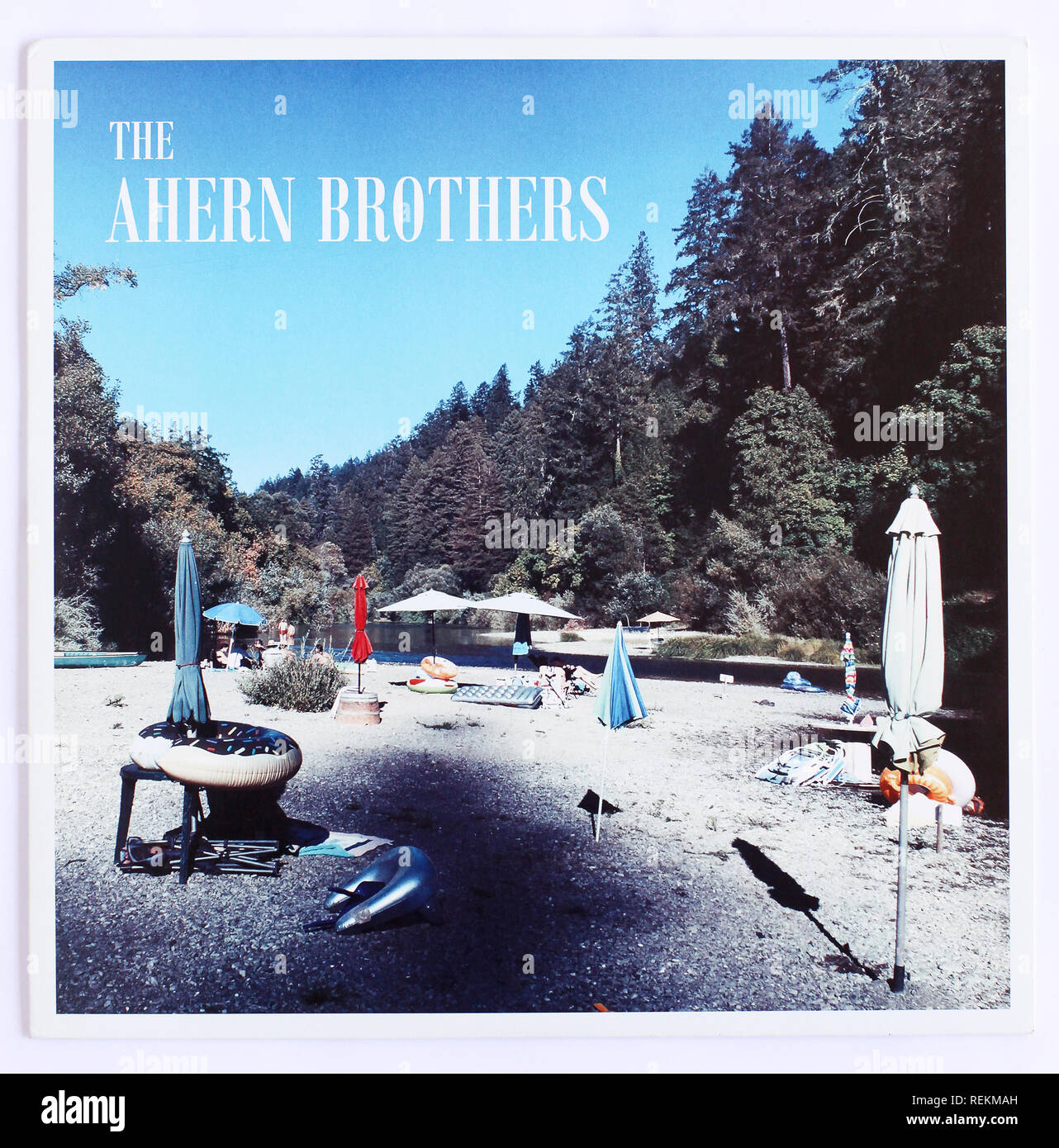 The cover of The Ahern Brothers self-titled 2017 debut album. - Stock Image