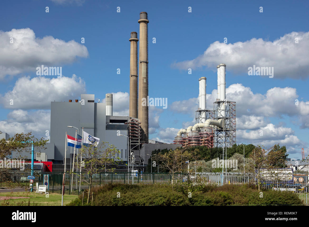 The Netherlands, Rotterdam, Port of Rotterdam, harbour. Uniper, a global energy company that generates, trades, and markets energy on a large scale - Stock Image
