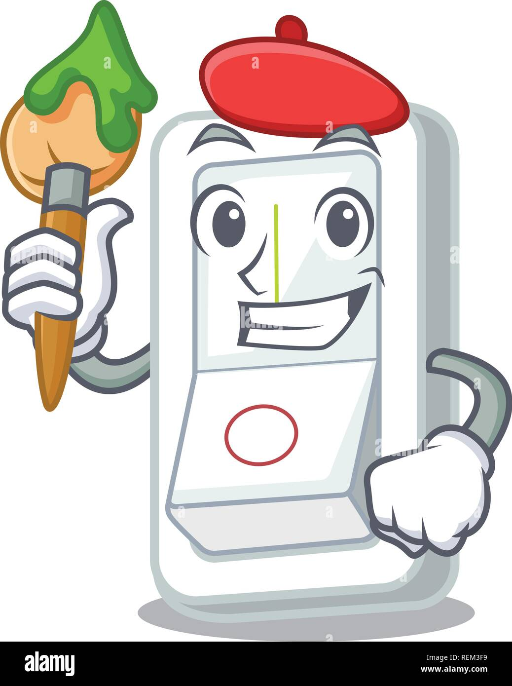 Artist light switch in the cartoon shape Stock Vector Art