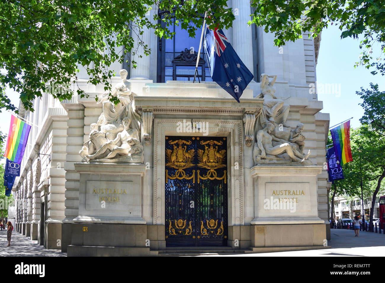 Australian High Commission (Australia House), The Strand, Aldwych, City of Westminster, Greater London, England, United Kingdom - Stock Image