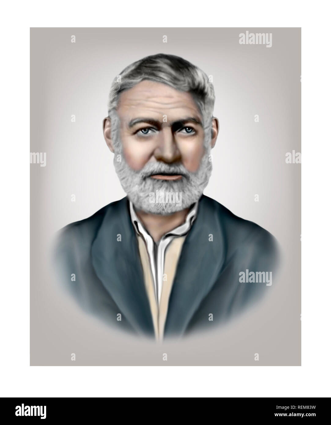 Ernest Hemingway 1899-1961 American Novelist Short Story Writer Journalist - Stock Image