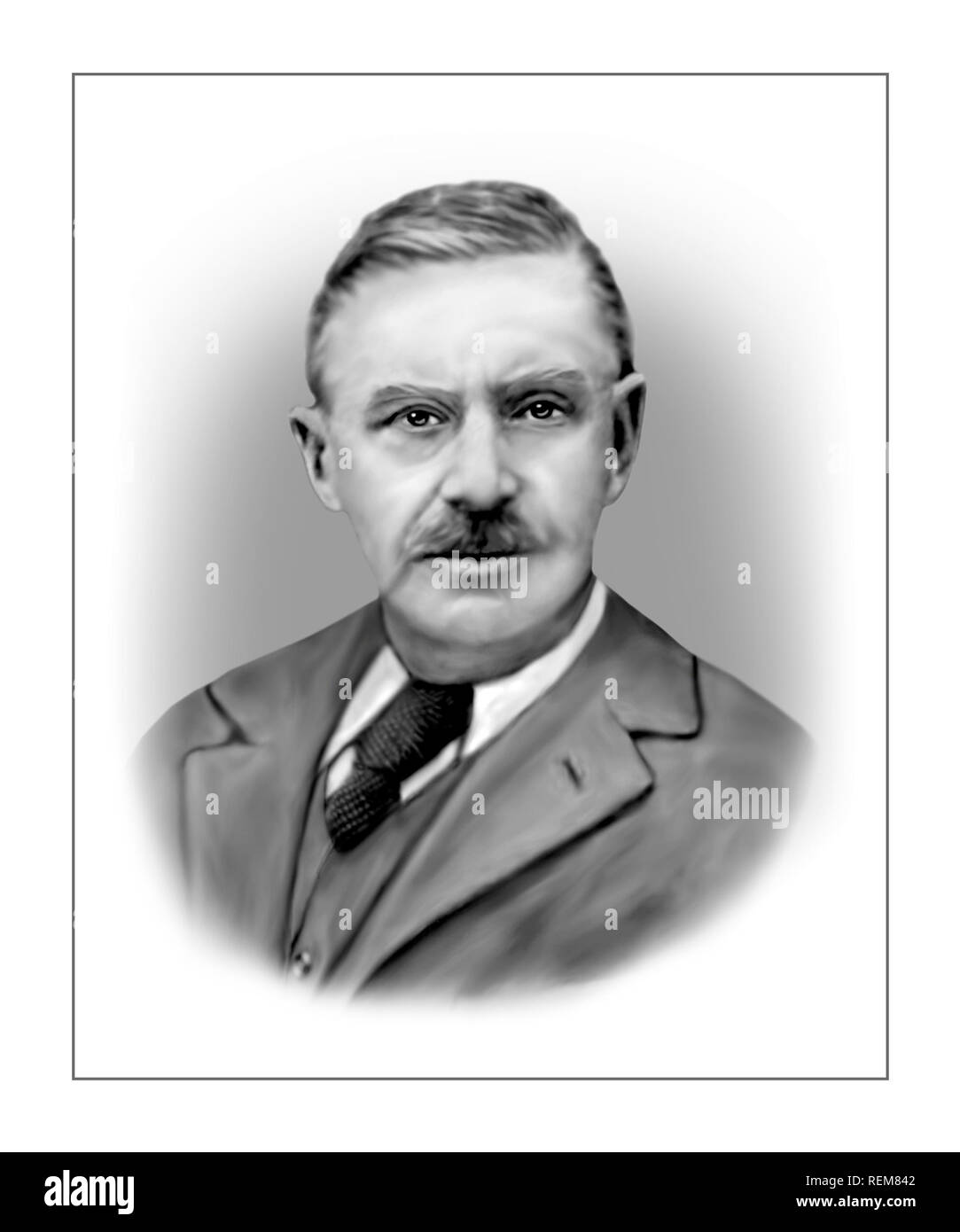 Thomas Mann 1875-1955 German Novelist Short Story Writer Essayist - Stock Image