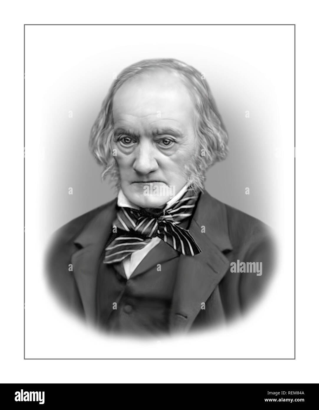 Richard Owen 1804-1892 English Biologist Palaeontologist - Stock Image