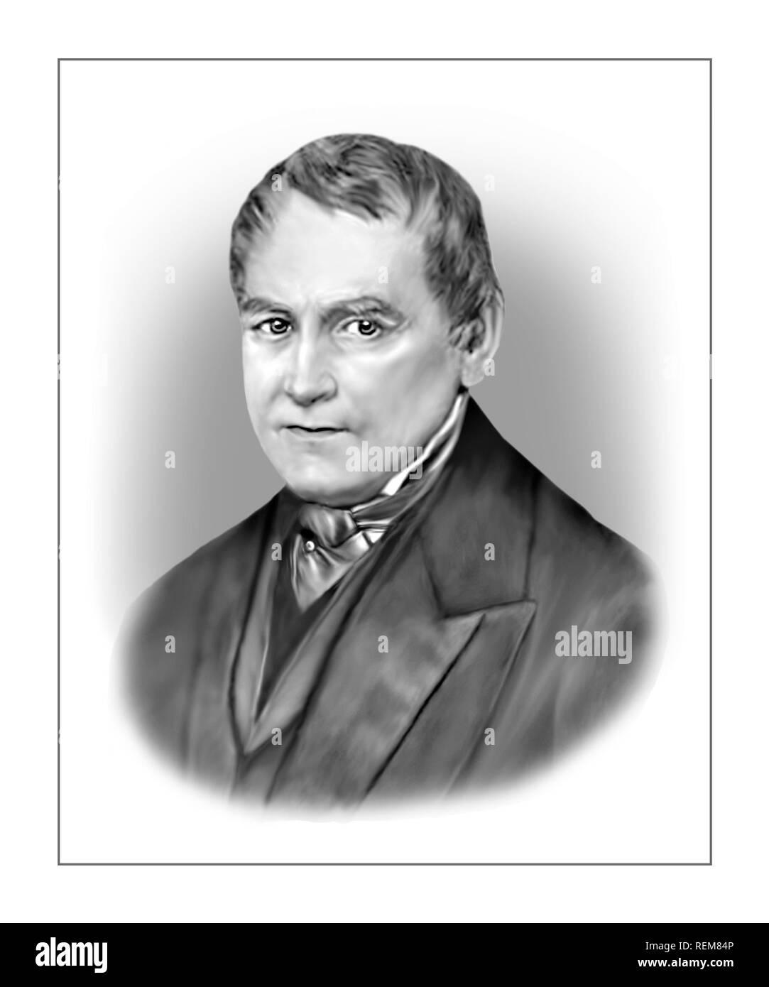 Christian Leopold von Buch 1774-1853 German Geologist Palaeontologist Stock Photo