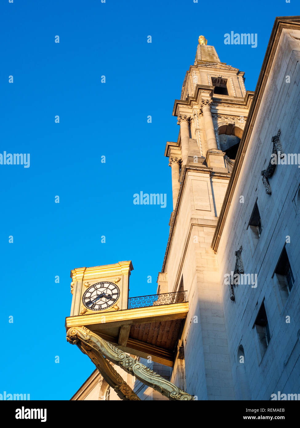 Winter afternoon light on the Civic Hall at Leeds West Yorkshire England - Stock Image