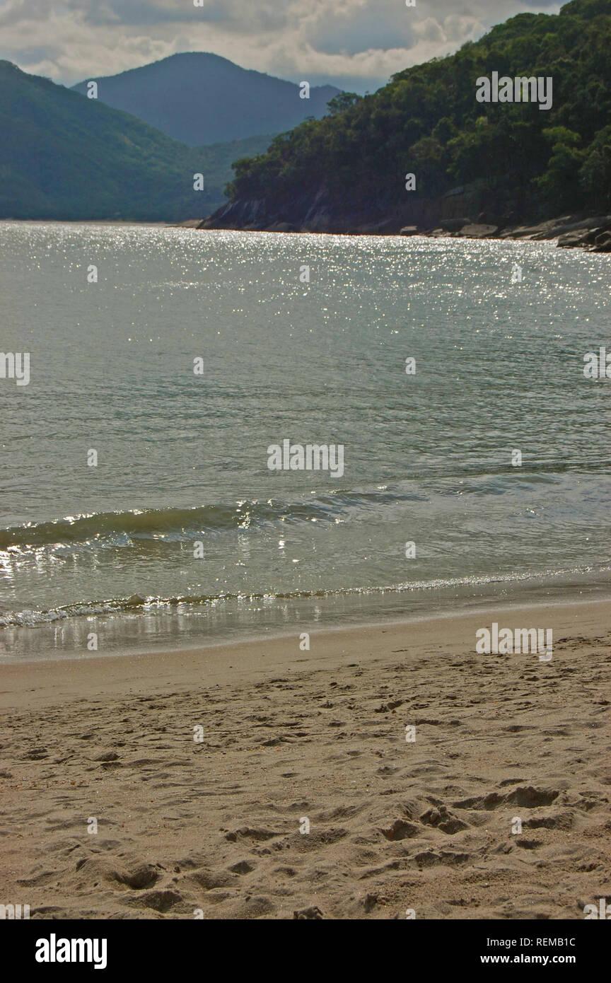 Ubatuba beach, Brazil - Stock Image