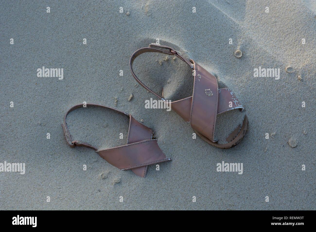 fa23bba812984d Sandals Beach Sand Womens Stock Photos & Sandals Beach Sand Womens ...