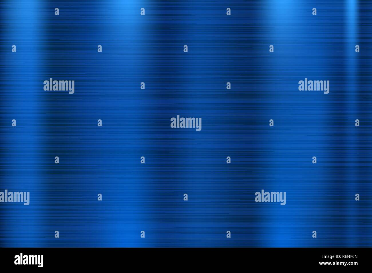 Blue metal texture. Scratched shiny 3d surface - Stock Image
