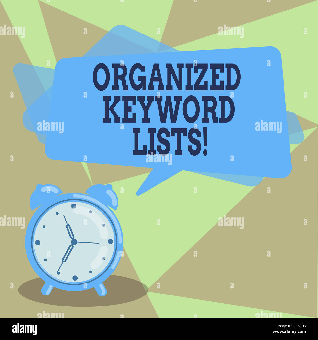 Text Sign Showing Organized Keyword Lists Conceptual Photo