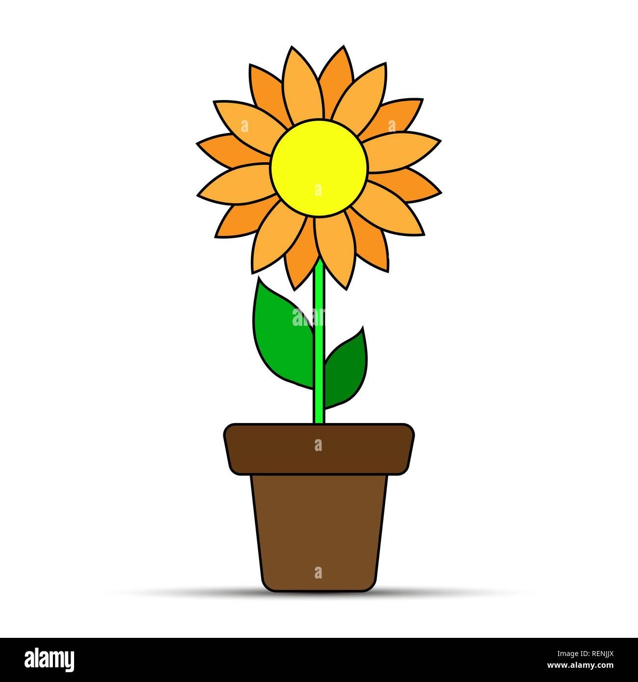 Flower Simple Flower Pot Design Drawing
