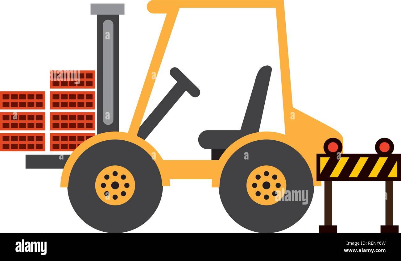 construction equipment design - Stock Vector
