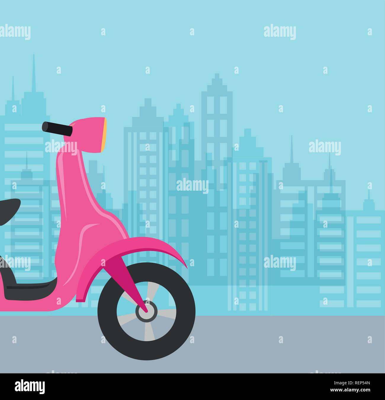 Motorcycle over blue background, colorful design. vector illustration - Stock Vector