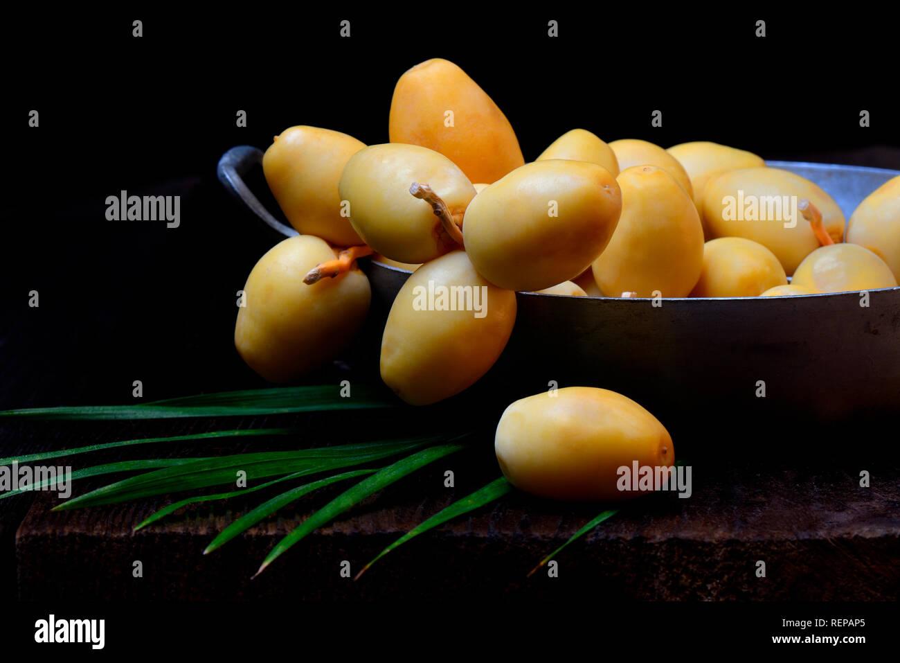 fresh dates, Bahri dates, from Namibia - Stock Image