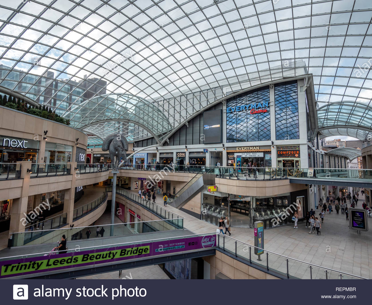 Trinity Leeds Shopping Centre Leeds West Yorkshire England - Stock Image