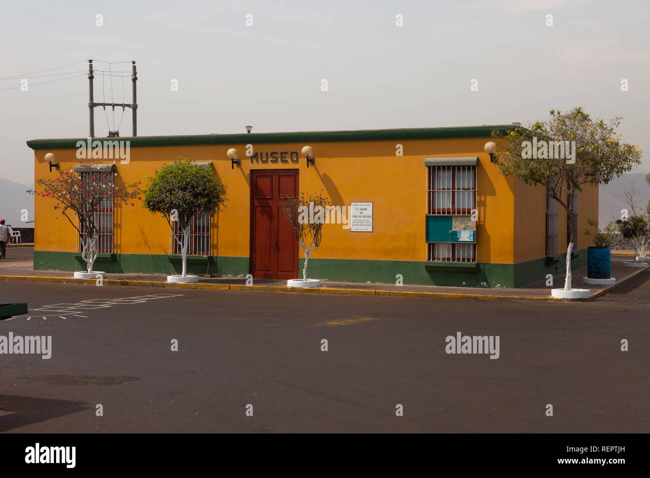 Museum at the top of a hill at Lima - Stock Image