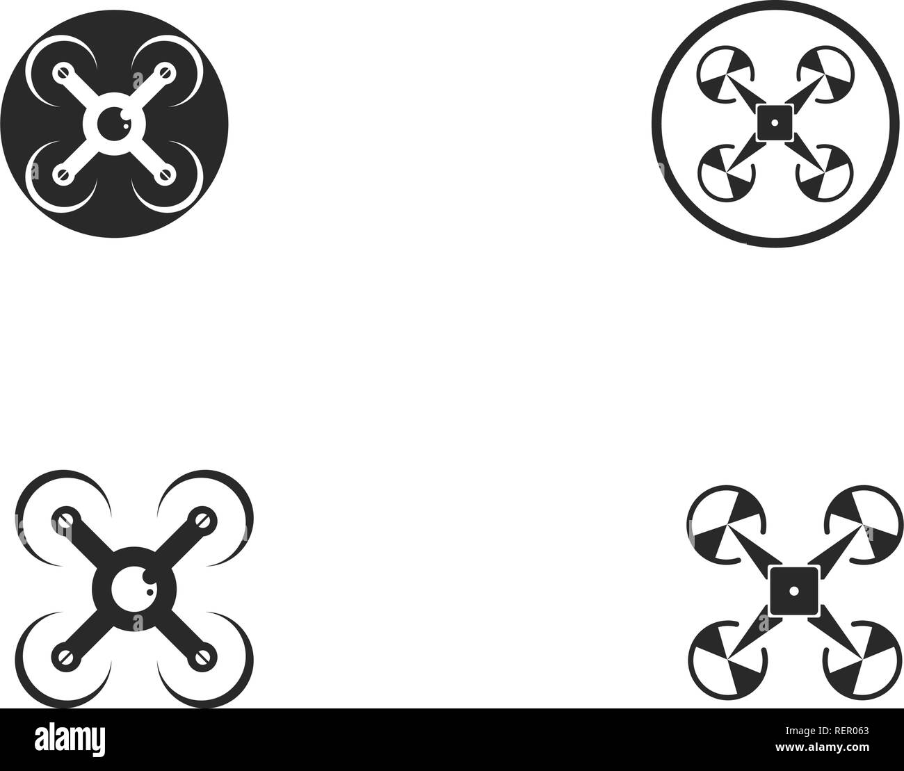 Drone logo and symbol vector - Stock Vector