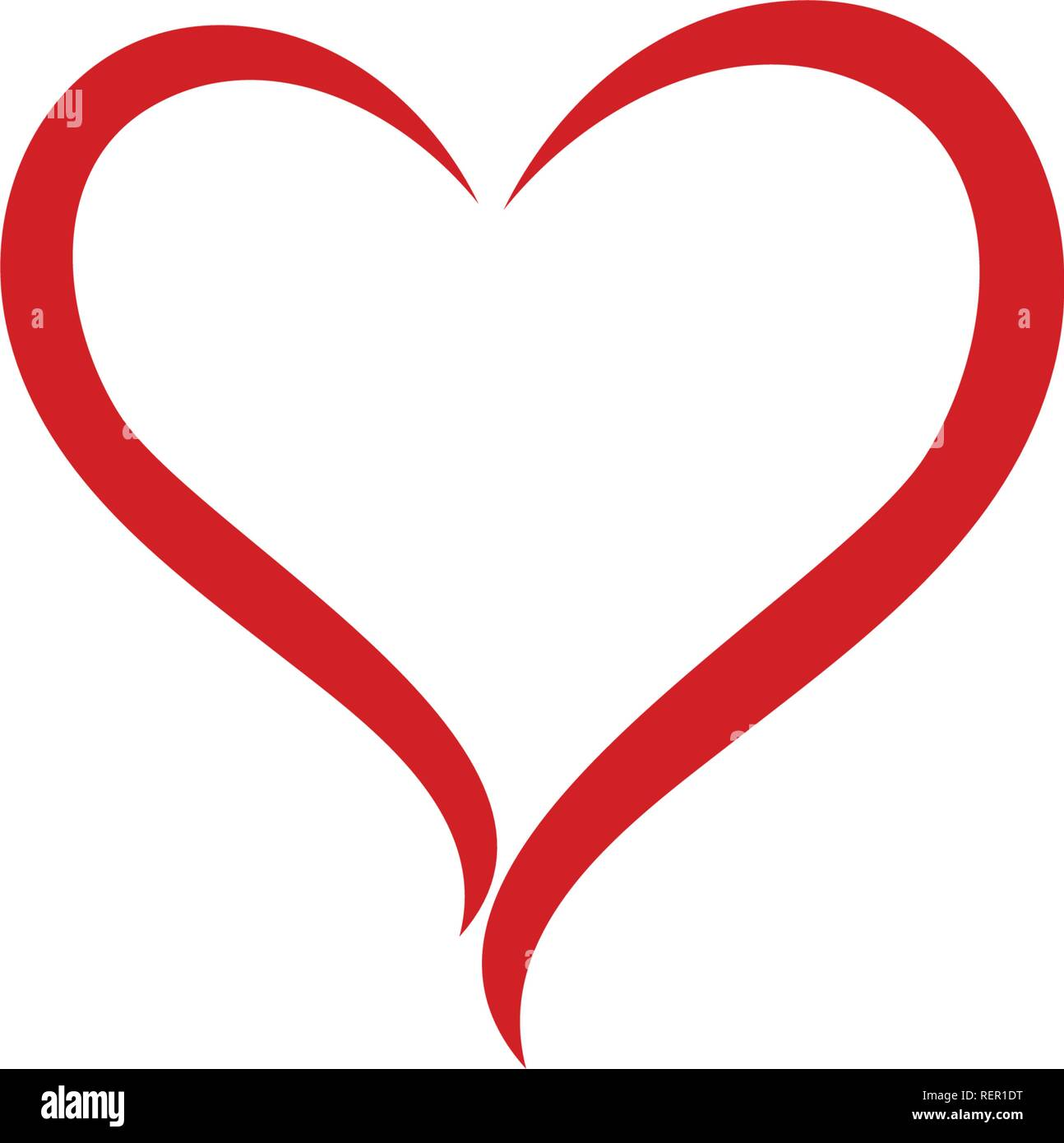 Love Heart Red Logo And Symbol Stock Vector Image Art Alamy