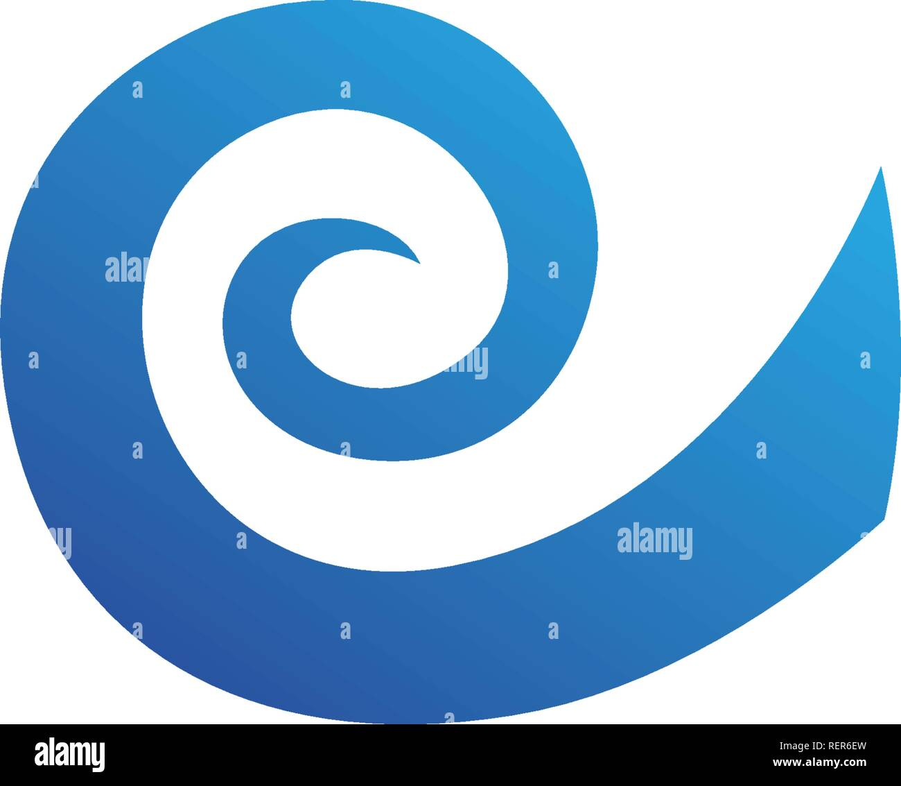 Waves beach logo and symbols template icons app - Stock Image
