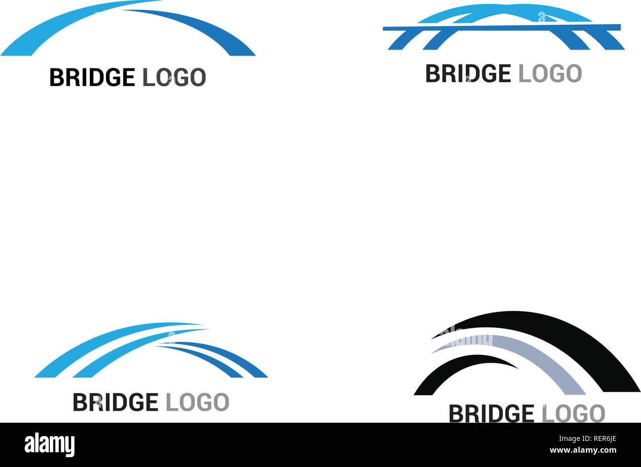 Bridge logo and symbol vector template - Stock Image