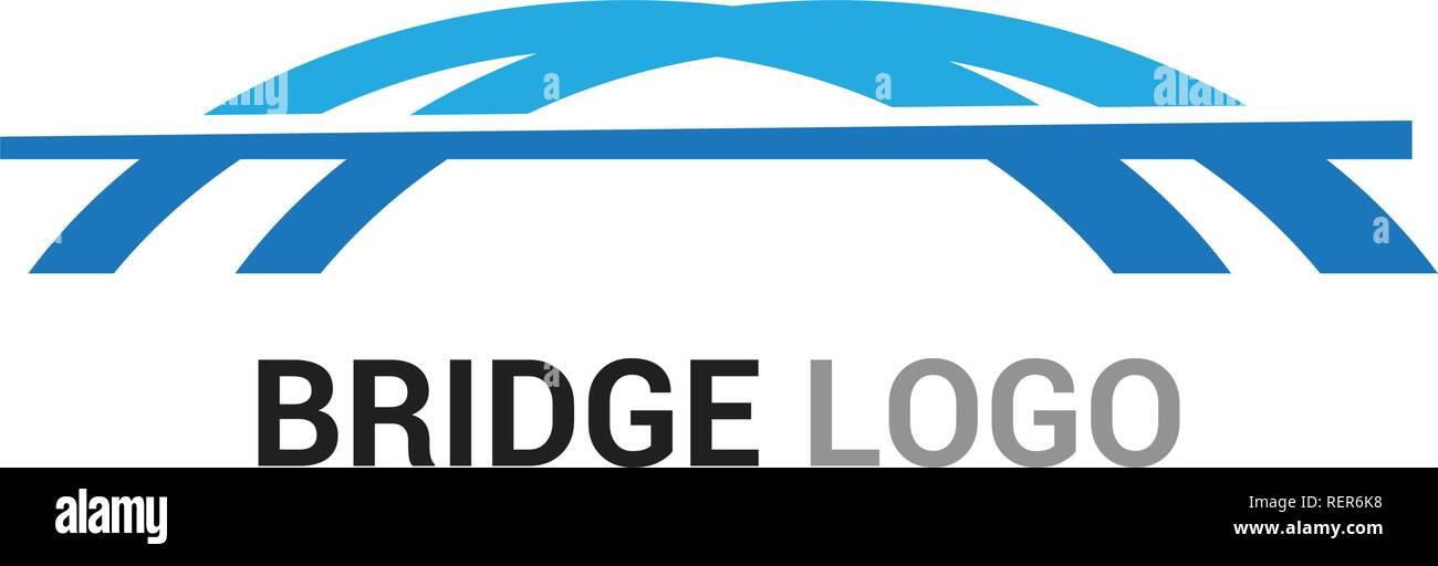 Bridge logo and symbol vector template - Stock Vector