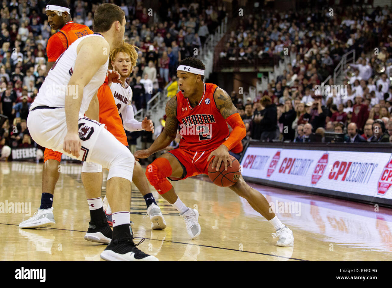 Columbia Sc Usa 22nd Jan 2019 Auburn Tigers Guard Bryce