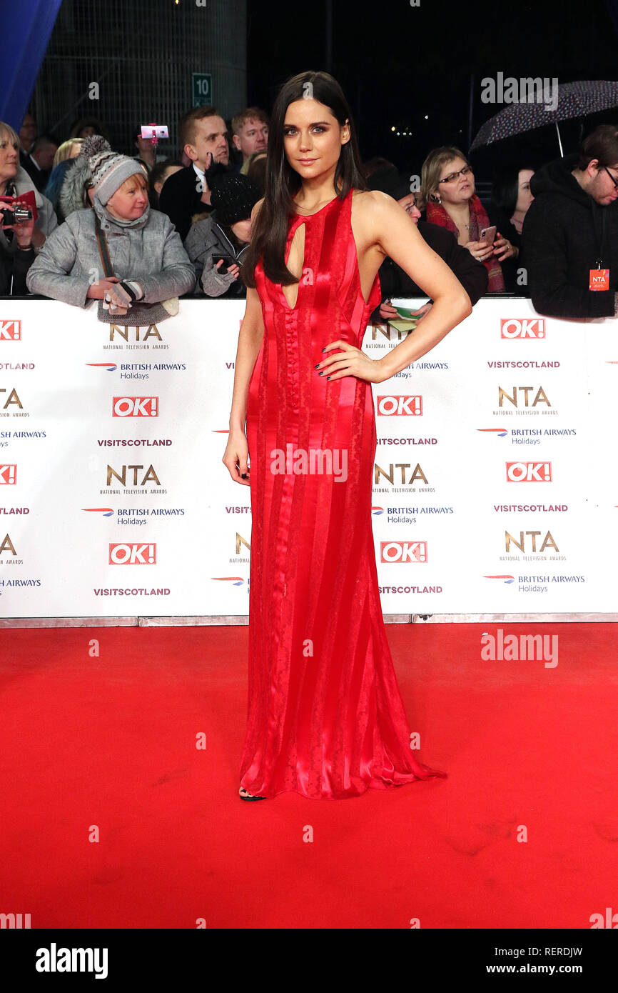 London, UK. 22nd Jan, 2019. Lilah Parsons, National Television Awards, The O2, London, UK, 22 January 2019, Photo by Richard Goldschmidt Credit: Rich Gold/Alamy Live News - Stock Image