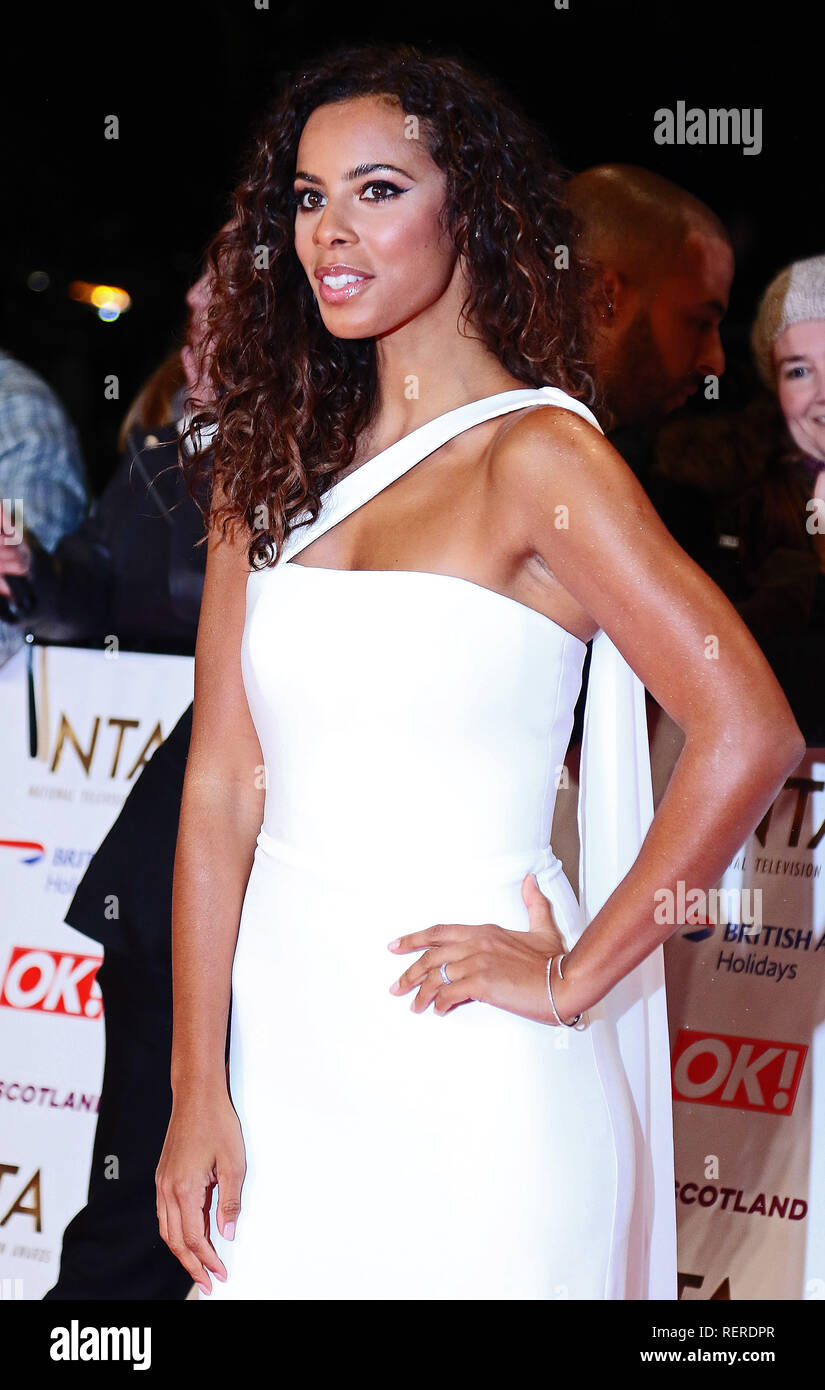 London, UK. 22nd Jan, 2019. Rochelle Humes, National Television Awards, The O2, London, UK, 22 January 2019, Photo by Richard Goldschmidt Credit: Rich Gold/Alamy Live News - Stock Image